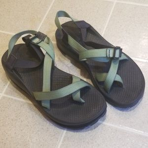 Green Strap Chacos